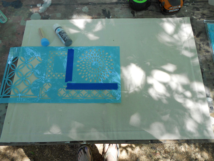 How to Make a Canvas Floor Cloth DSCN0229