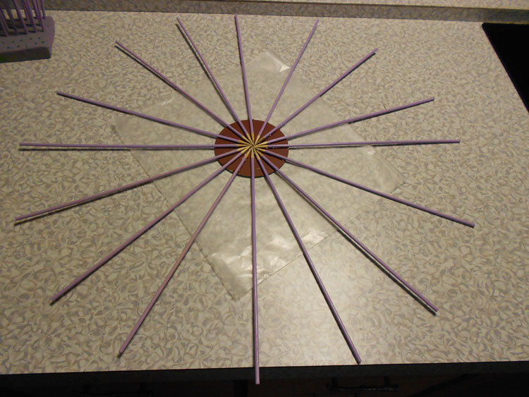 How to Make a Mirrored Sunburst Wall Art Piece DSCN0360