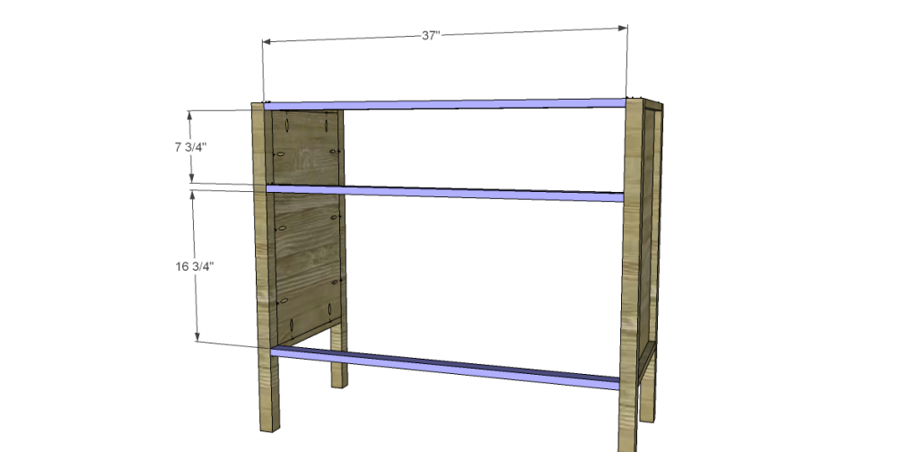 Free Plans to Build a TCD Sheffield Cabinet Knock-Off Front Stretchers