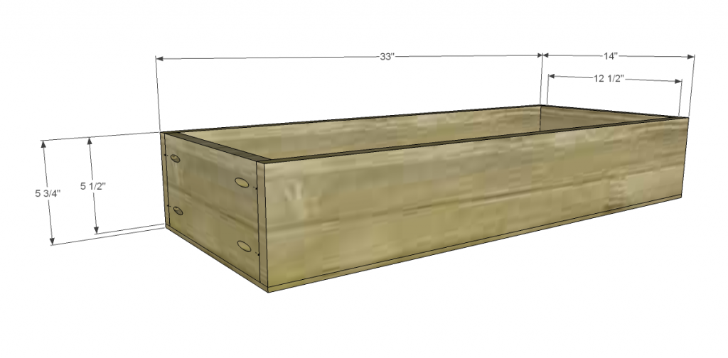 Free Plans to Build a TCD Sheffield Cabinet Knock-Off Drawer Box