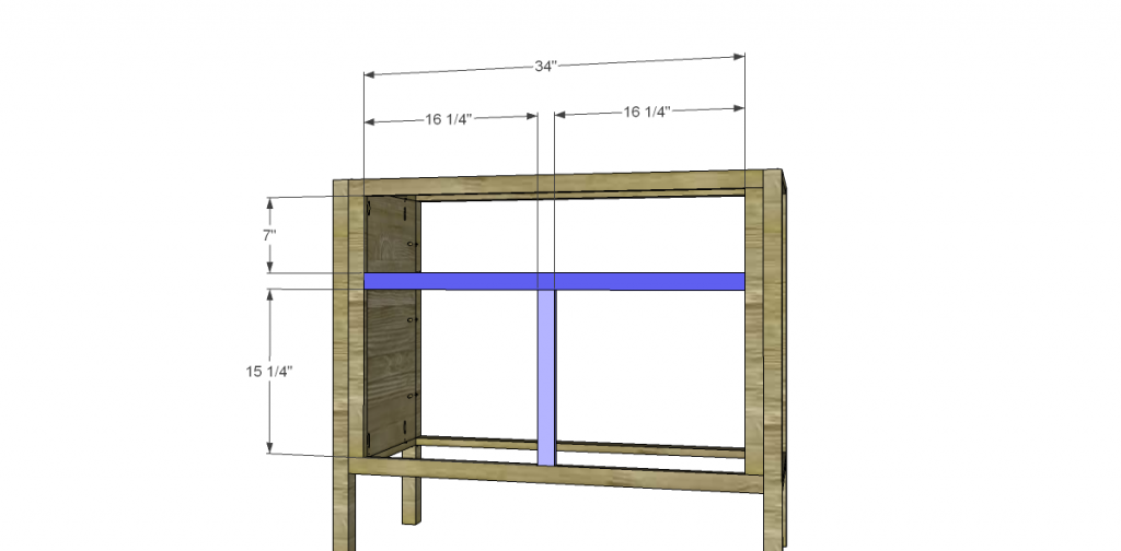 Free Plans to Build a TCD Sheffield Cabinet Knock-Off Front Dividers
