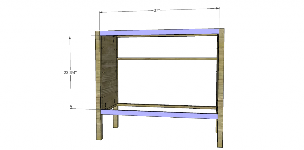 Free Plans to Build a TCD Sheffield Cabinet Knock-Off Back Stretchers