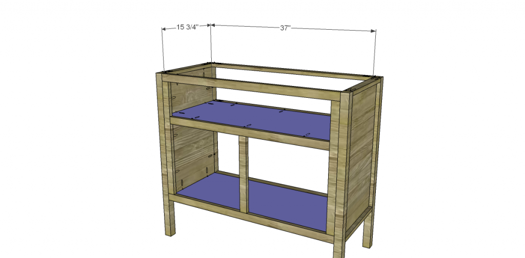 Free Plans to Build a TCD Sheffield Cabinet Knock-Off Shelves