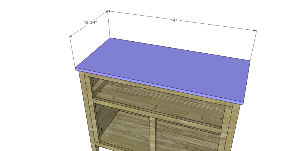 Free Plans to Build a TCD Sheffield Cabinet Knock-Off Top