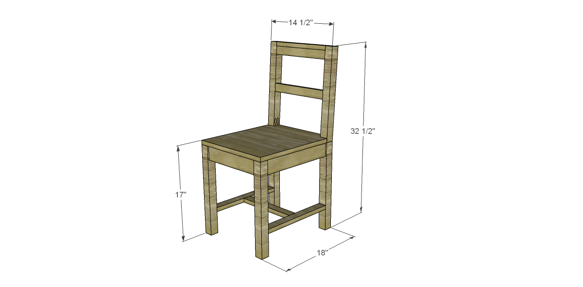 Wood chair plans free