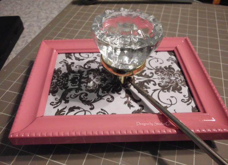How to Make Glass Knob Wall Hooks SANY1222