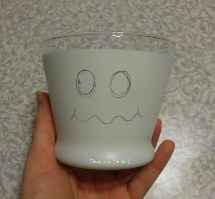 How to Make a Cute Ghost Candy Dish SANY1429