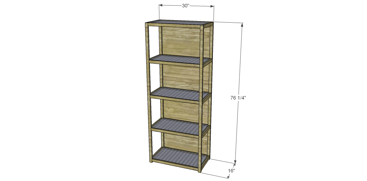 Free Plans Build Crate And Barrel Inspired Brey Bookcase