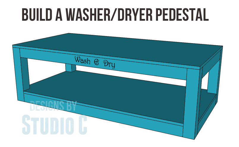 Free Plans To Build A Pedestal For Washer And Dryer Copy
