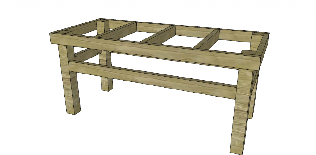 How to build an easy work table stretchers