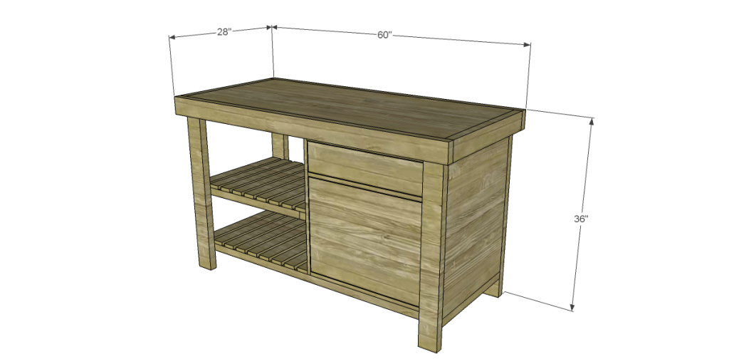 Free plans to build a new american barnwood kitchen island solutioingenieria Choice Image