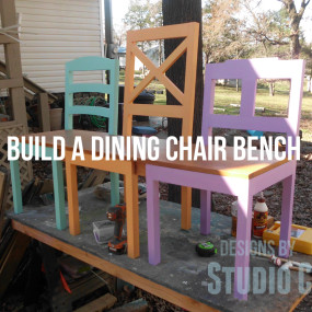 Build a Dining Chair Bench