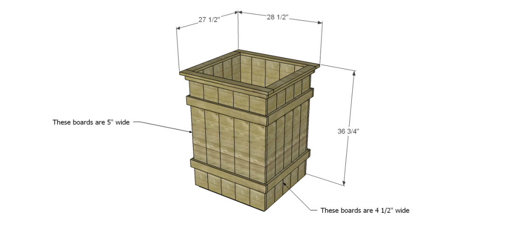 Free Plans To Build Robin S Planter Boxes