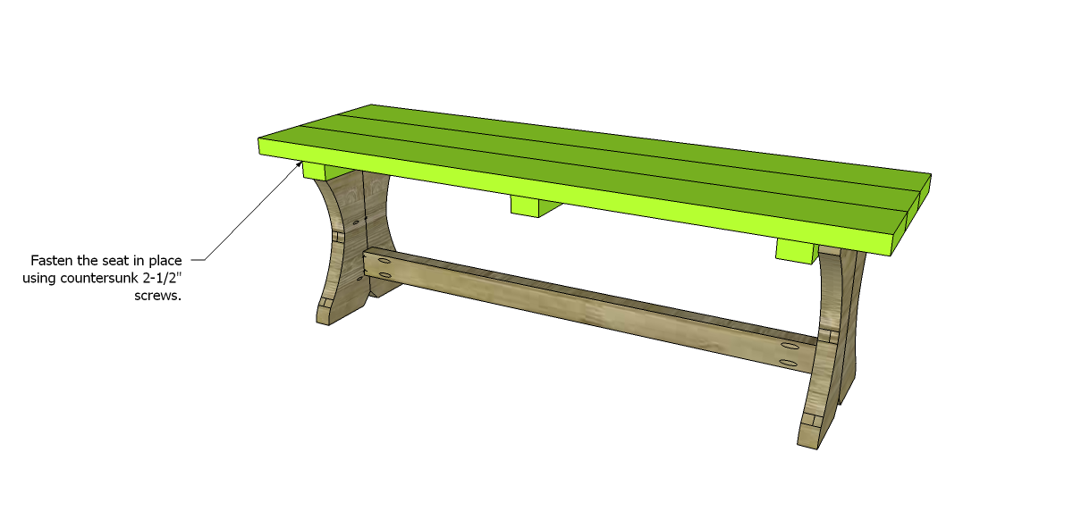 free plans to build a curvy bench seat
