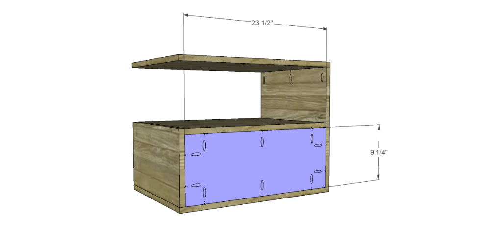 free DIY woodworking plans to build a leroy end table_Back