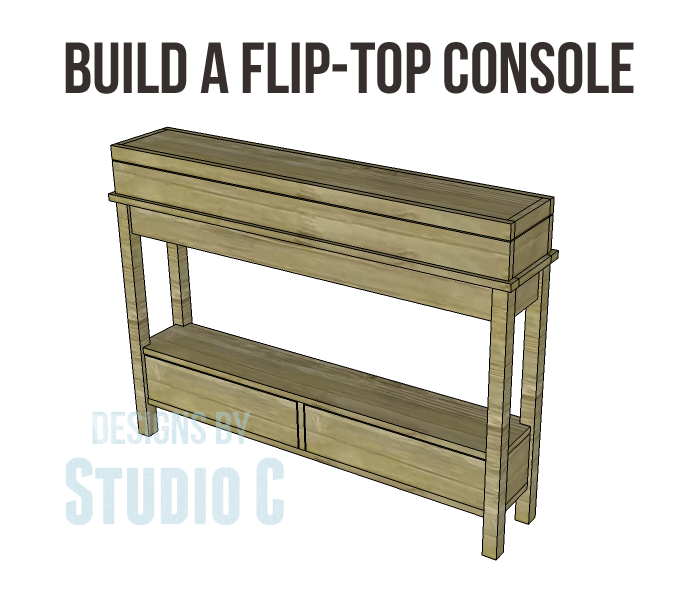 Plans To Build A Beautiful Console Table With A Unique