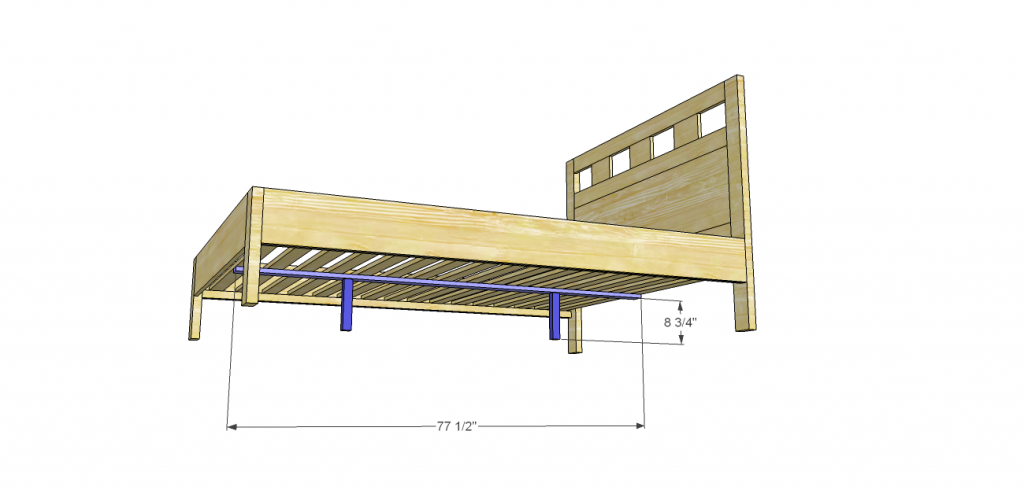 riva queen bed plans_Center Slat Support