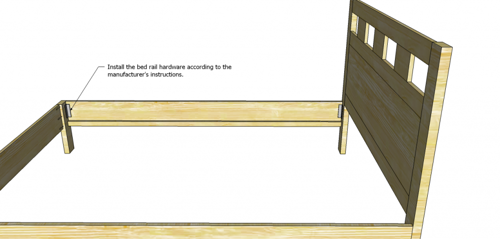 riva queen bed plans_Rail Hardware