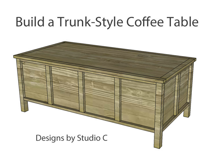 Build trunk style coffee table for Trunk style coffee table