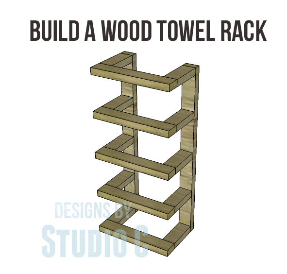 DIY Towel Storage   Featuring Designs by Studio C  Wood Towel Rack. Ana White   DIY Towel Storage   Featuring Designs by Studio C