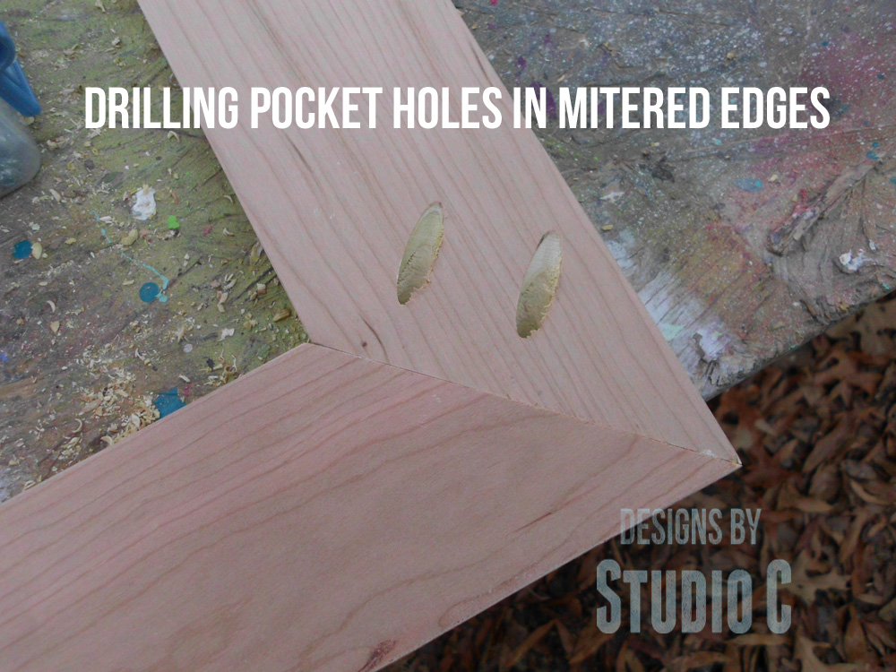 Drilling Pocket Holes In Mitered Edges