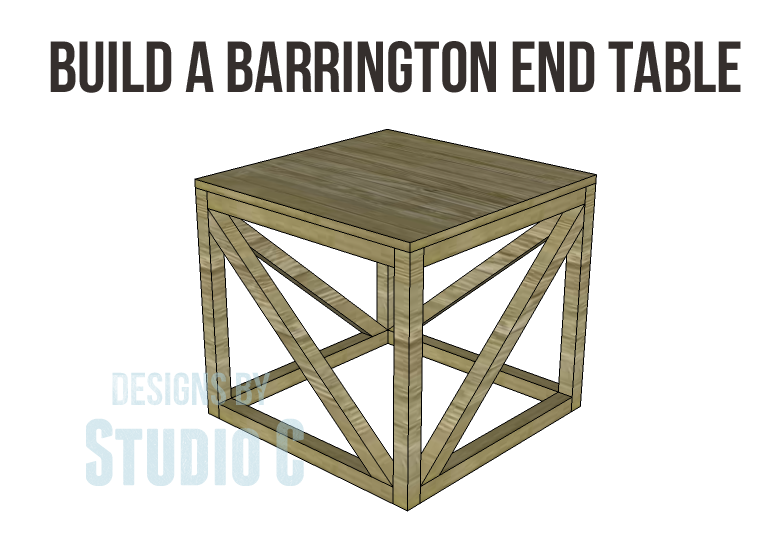 Free furniture plans build barrington end table for End table plans free