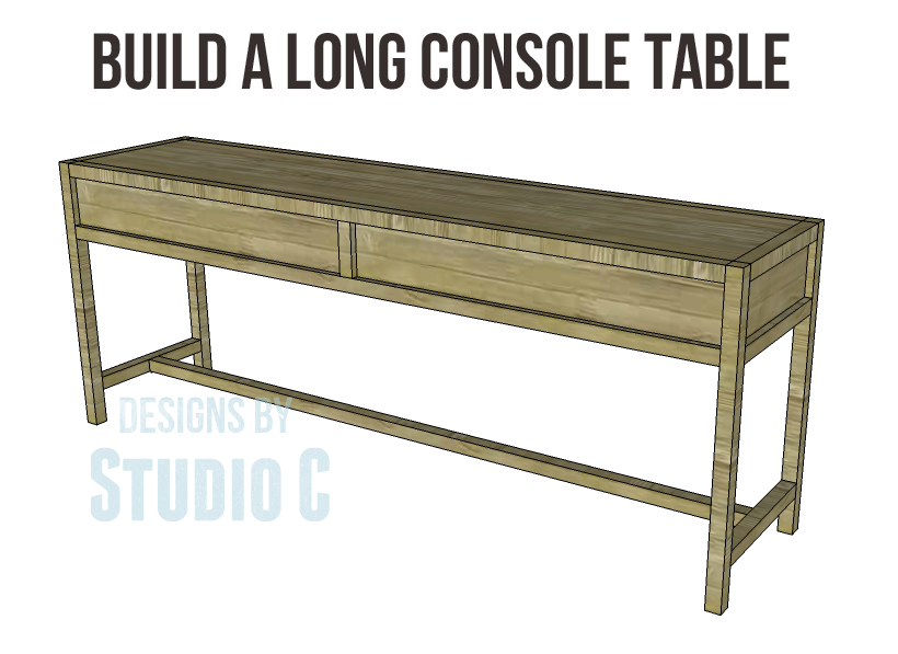 Build A Long Console Table