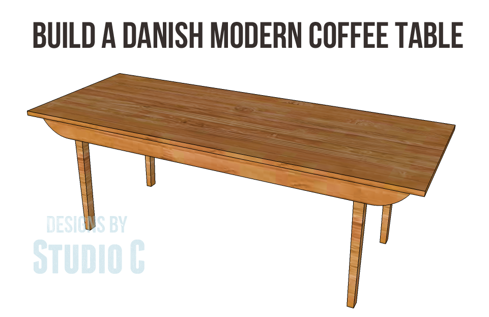 danish modern coffee table plans