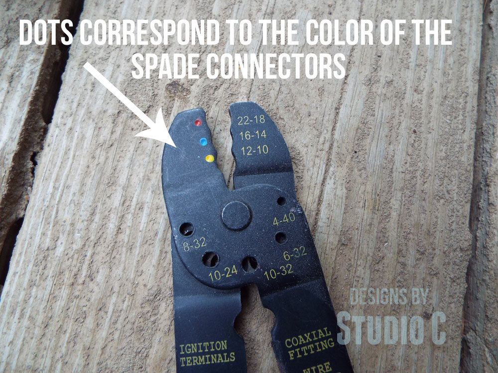 how to replace the cord on a power tool-crimp tool
