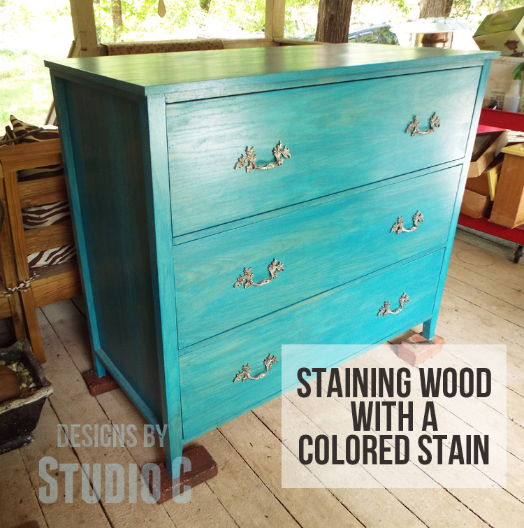Staining Wood With Colored Stain