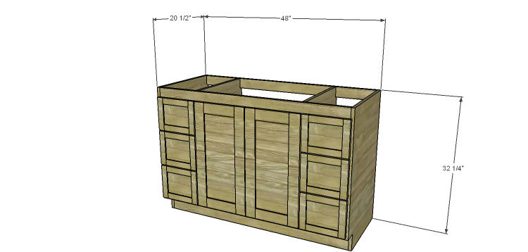 DIY Woodworking Plans To Build A 48 Bath Vanity