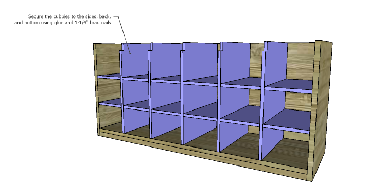 DIY Plans to Build a Maxwell Shoe Storage Bench_Cubbies 3