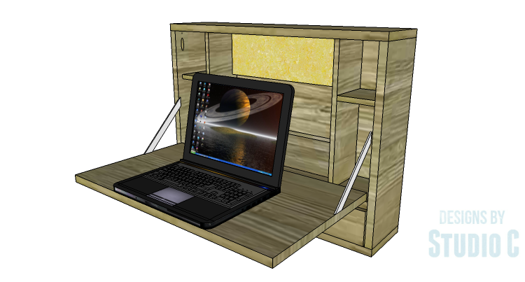 Short on Space? Add a Cabinet to the Wall for a Laptop