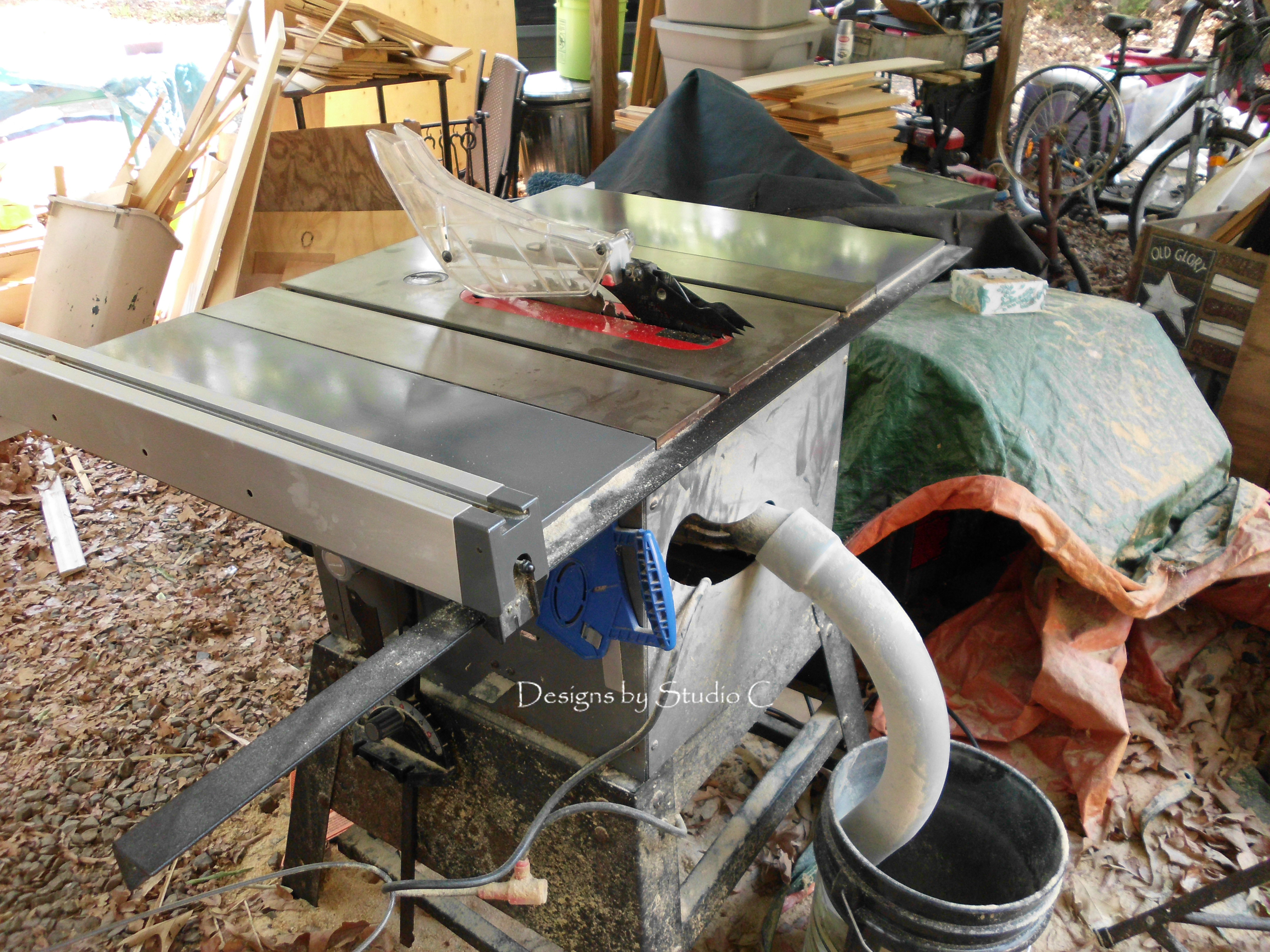 An Inexpensive Option For Dust Collection On The Table Saw Old Setup
