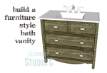A Bath Vanity with Lots of Style plus Storage