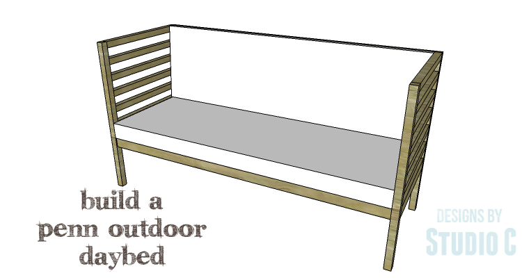 Diy plans to build a penn outdoor daybed for Diy outdoor daybed plans