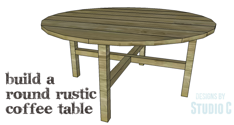 Diy plans to build a round rustic coffee table for Round end table diy