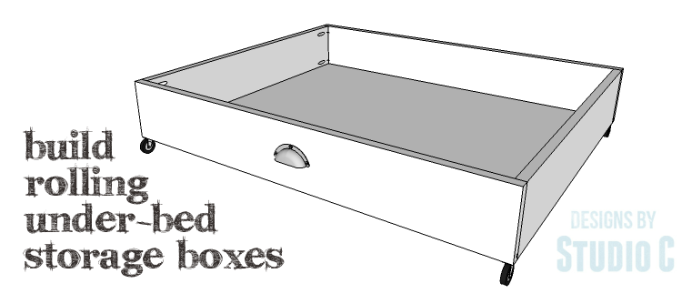 Diy Plans To Build Rolling Under Bed Storage Bo Copy