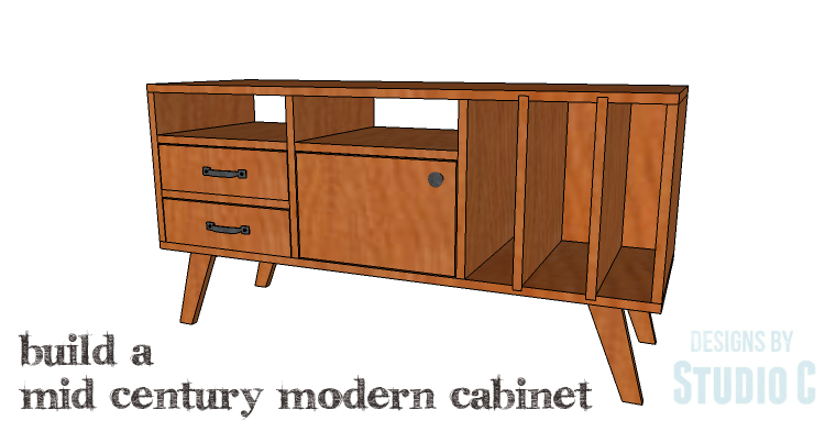 Diy Plans To Build A Mid Century Modern Cabinet Copy