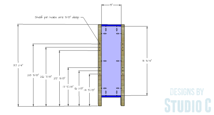 DIY Plans to Build an Ashwin Bookcase-Sides