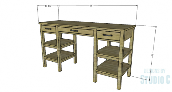 An Easy to Build Desk Perfect for Crafting or Studying |