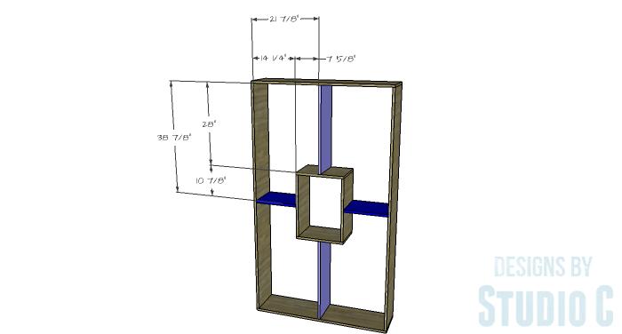 DIY Plans to Build a Geometric Bookshelf-Shelves 1