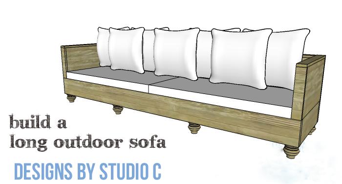 DIY Furniture Plans to Build a Long Outdoor Sofa - Copy