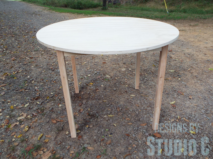 Diy Furniture Plans To Build A Simple Round Dining Table Completed