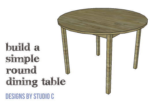 Diy Furniture Plans To Build A Simple Round Dining Table Featured Plan Image