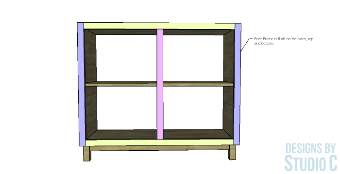 DIY Furniture Plans to Build a Gabrielle Cabinet_Face Frame Position