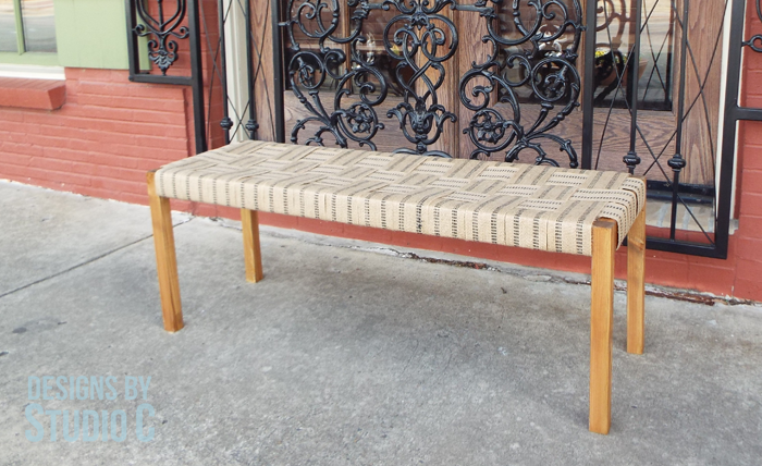 Build a Bench with a Woven Jute Seat
