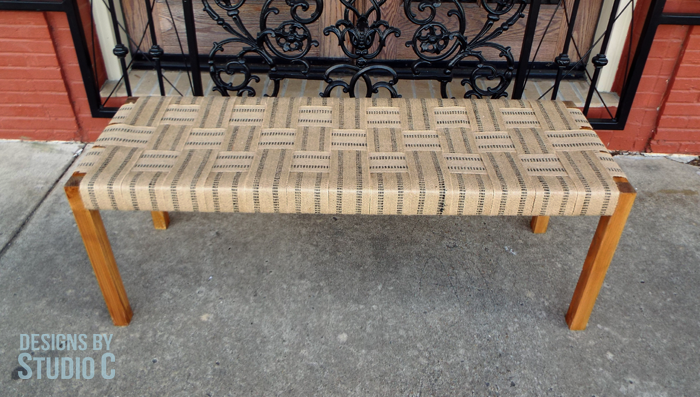 Build a Bench with a Woven Jute Seat_Completed