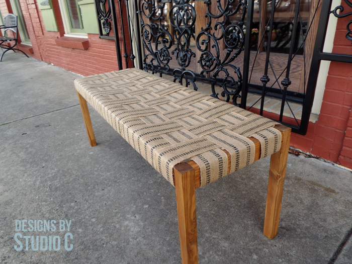 Build a Bench with a Woven Jute Seat_Angled View
