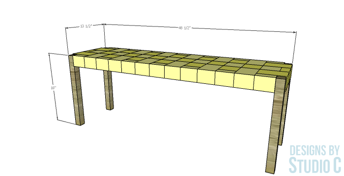 Build a Bench with a Woven Jute Seat_Dimensions